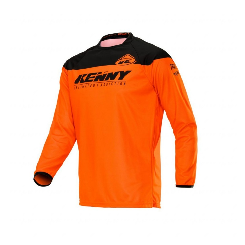 Maillot Manches Longues Kenny Track Raw Orange Néon 2020