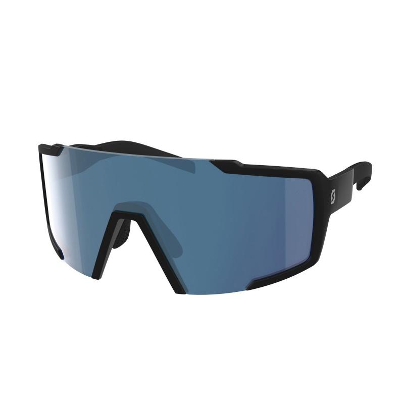Scott Shield Bril Mat Zwart - Chrome Blue 2020