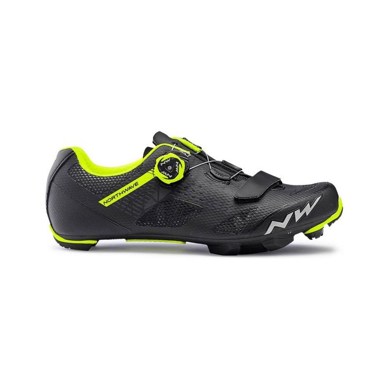 Chaussures VTT Northwave Razer Noir/Jaune Fluo 2020