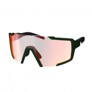 Scott textile Lunettes Scott Shield Vert Iris - Verre Rouge Chrome 2020