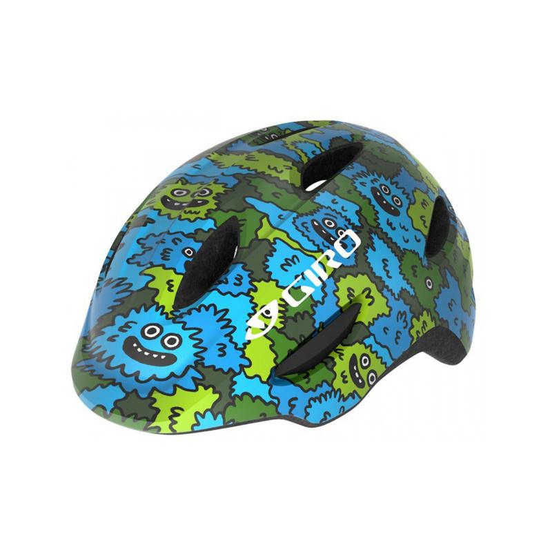 Giro Scamp Helm voor Kinderen Blauw/Groen Creature Camo 2020