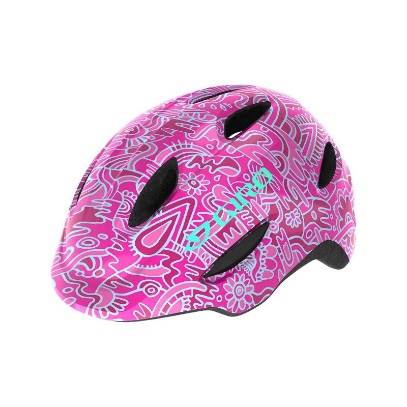 Giro Scamp Helm voor Kinderen Bloemen Roze 2020
