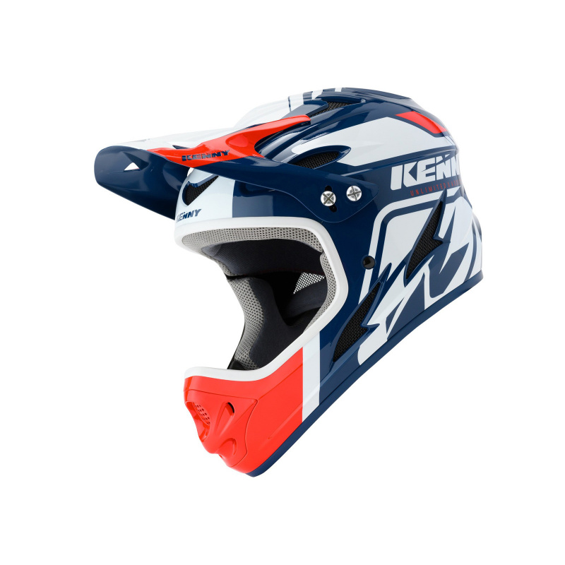Kenny Downhill Helm Wit/Blauw/Rood 2020