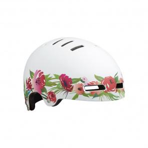 Lazer Lazer Street+ Helm voor Kinderen Roze Bloemen/Wit 2020