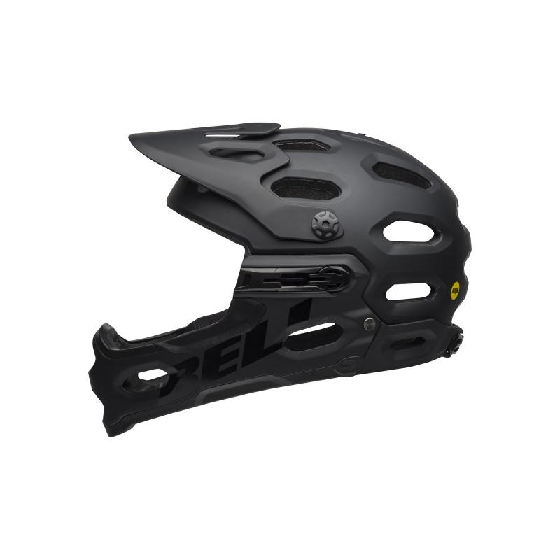 Bell Super 3R MIPS Helm Mat Zwart/Grijs 2021