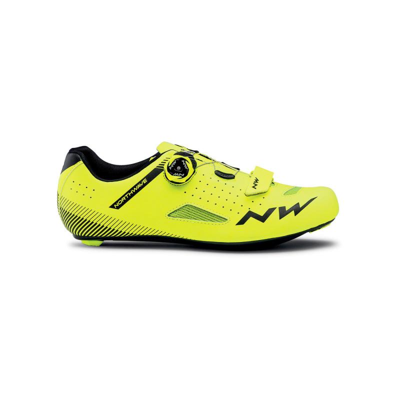 Chaussures Route Northwave Core Plus 2 Noir/Jaune Fluo 2021 (410333)