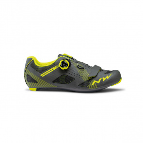 Northwave Chaussures Route Storm Anthracite/Yellow Fluo 2020