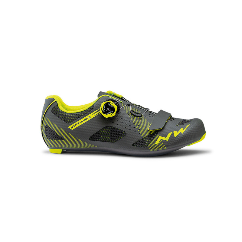 Chaussures Route Storm Anthracite/Yellow Fluo 2020 (80191013-88)