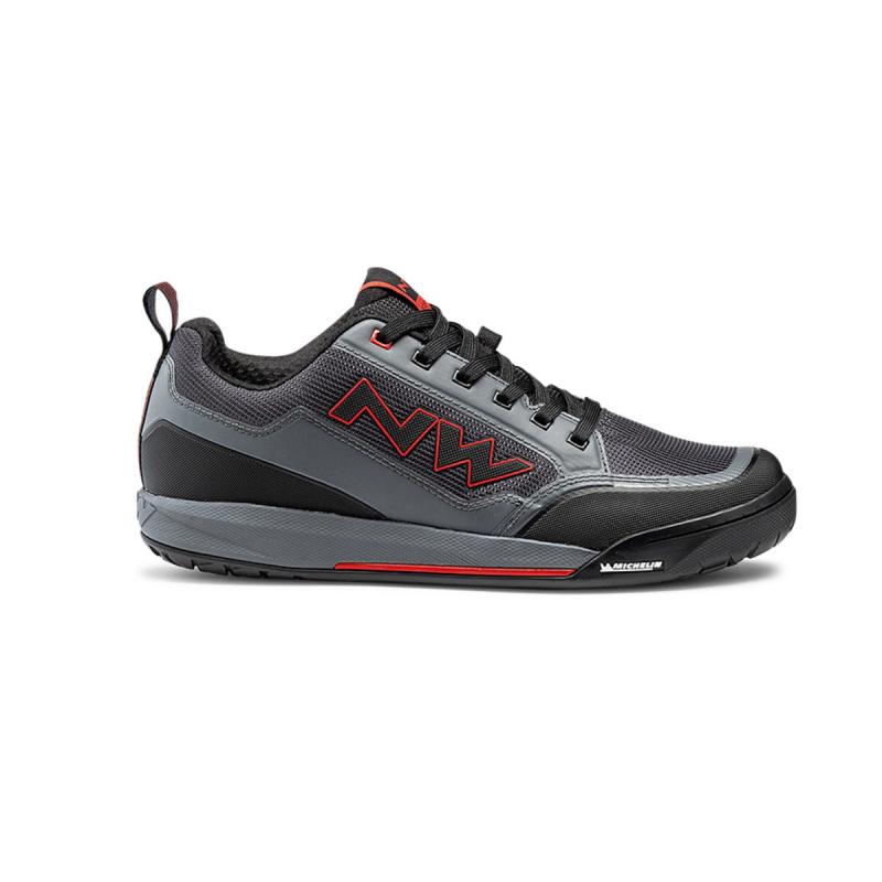 Chaussures VTT Northwave Clan Gris/Rouge 2021