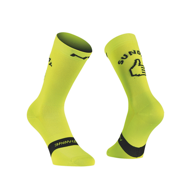 Chaussettes Sunday Monday Lime Fluo 2020