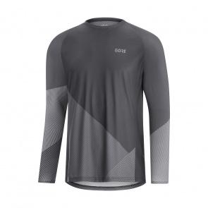 Gore Wear Gore Wear C5 Trail Shirt met Lange Mouwen Donker Grafiet/Grijs 2020