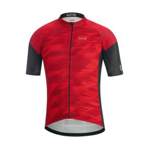 Gore Bike Wear Maillot Manches Courtes Gore Wear C3 Knit Rouge/Noir 2020