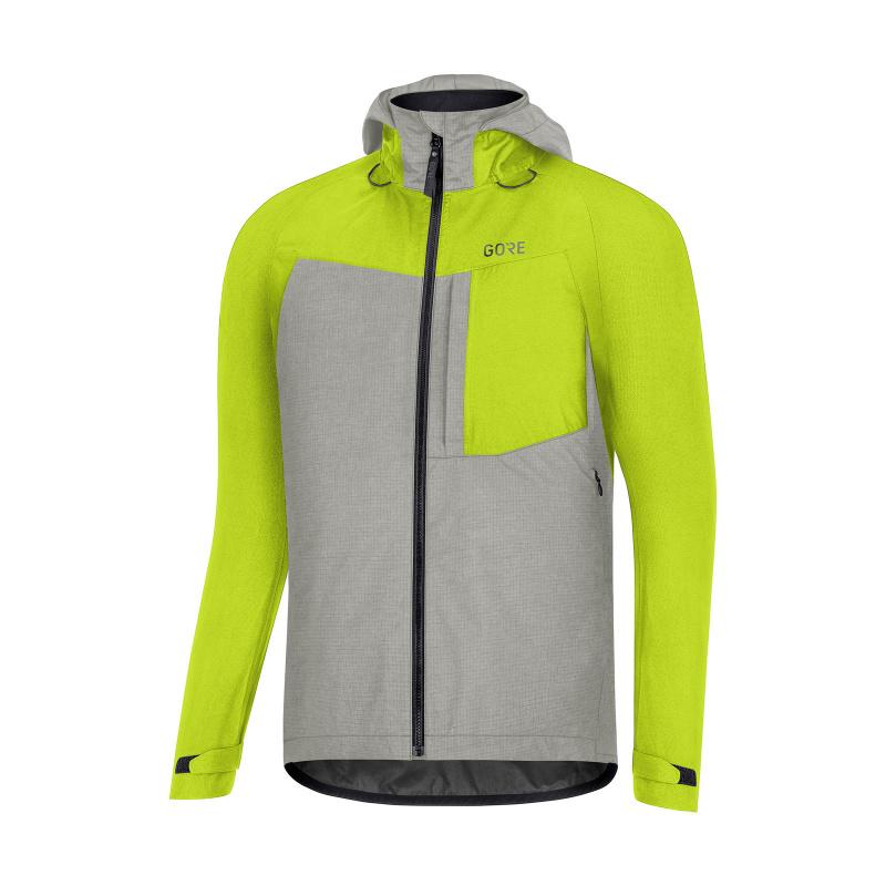 Veste Gore Wear C5 GTX Trail Vert/Gris 2020