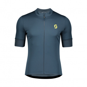 Scott textile Scott Endurance 10 Shirt met Korte Mouwen Blauw/Geel 2020