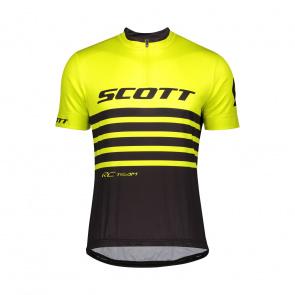 Scott textile Scott RC Team Shirt met Korte Mouwen Geel/Zwart 2020
