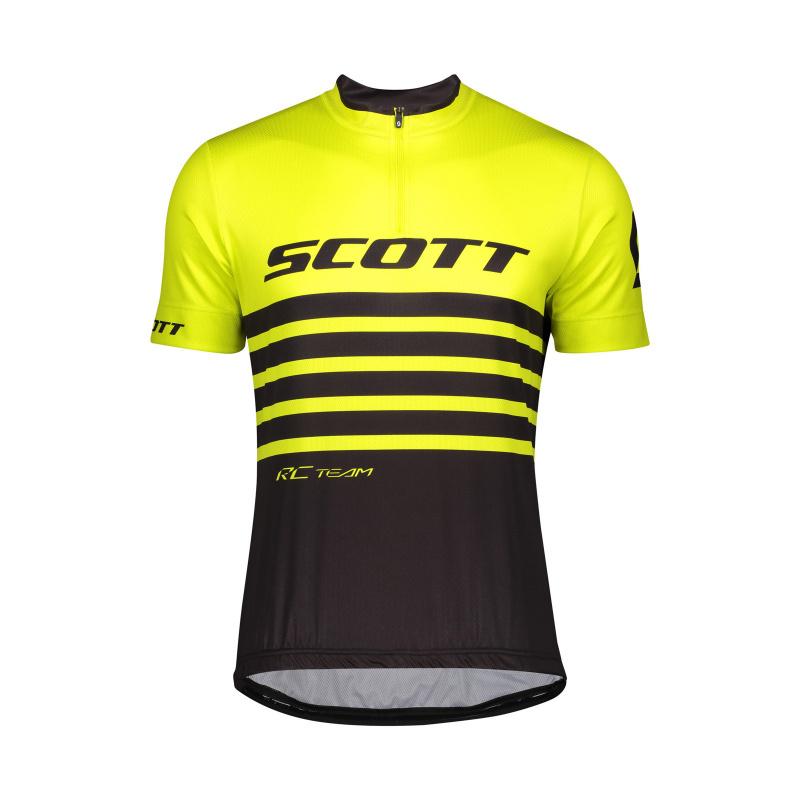 Scott RC Team Shirt met Korte Mouwen Geel/Zwart 2020