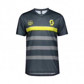 Scott textile Scott Trail Flow Pro Shirt met Korte Mouwen Blauw/Geel 2020