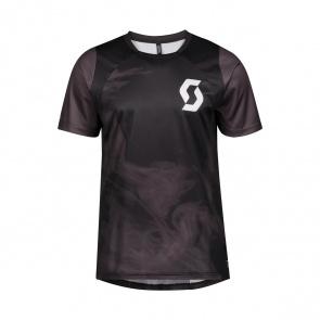 Scott textile Scott Trail Flow Vertic Shirt met Korte Mouwen Zwart/Donkergrijs 2020