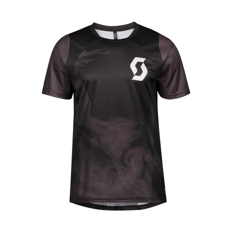 Scott Trail Flow Vertic Shirt met Korte Mouwen Zwart/Donkergrijs 2020