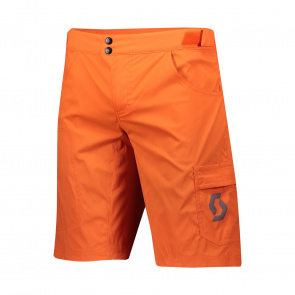 Scott textile Short Trail Flow avec peau Orange Pumpkin 2020