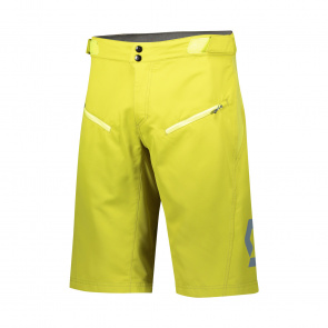 Scott textile Short Trail Vertic avec peau Lemongrass Yellow 2020