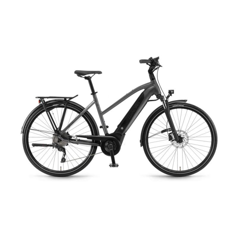 Vélo Electrique Winora Sinus i9 500 Trapèze Titane 2020 (44291098)