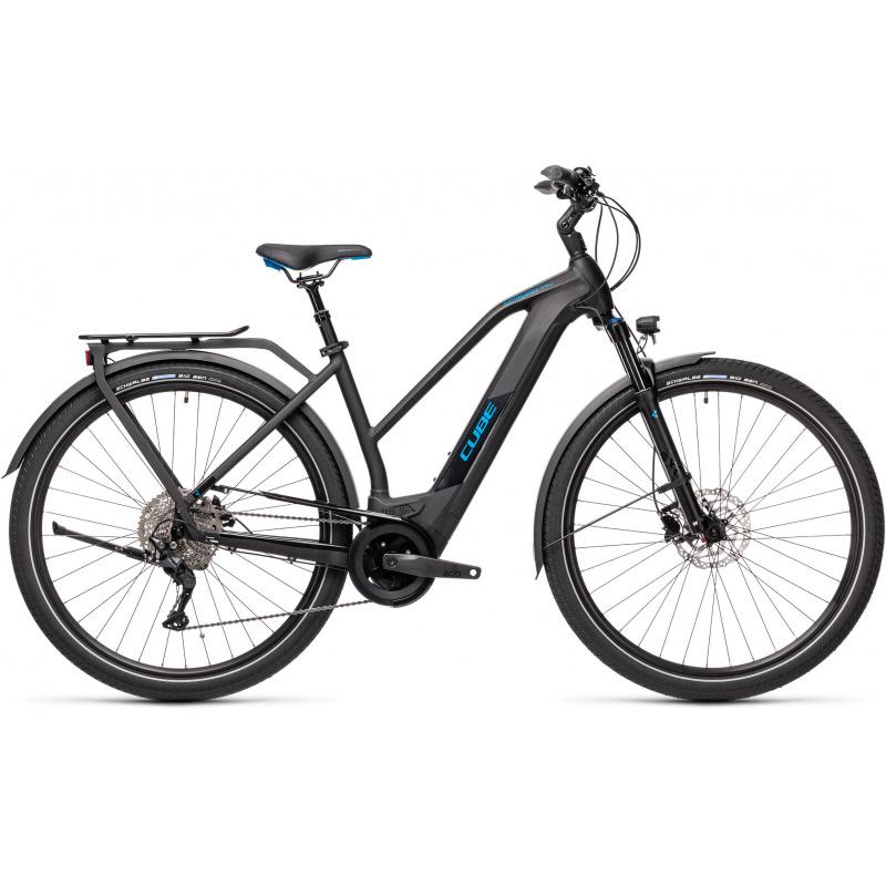 Vélo Electrique Cube Kathmandu Hybrid Pro 625 Trapèze Noir/Bleu 2021 (431202)