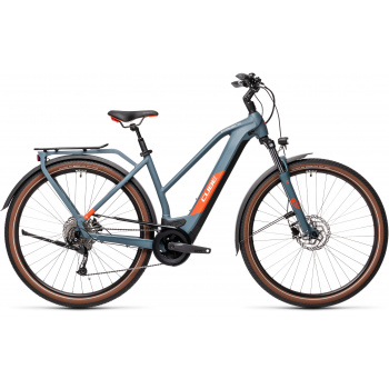 Vélo Electrique Cube Kathmandu Hybrid One 625 Trapèze Bleu/Rouge 2021 (431182)