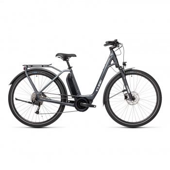 Vélo Electrique Cube Town Sport Hybrid One 500 Easy Entry Iridium/Gris 2021 (432351)