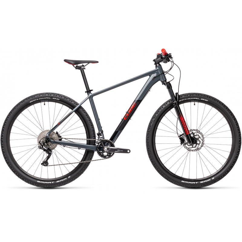 "VTT 27.5"" Cube Attention Gris/Rouge 2021 (403100)"