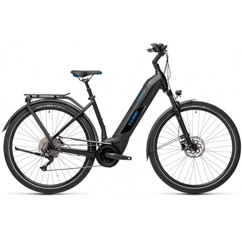 Vélo Electrique Cube Kathmandu Hybrid Pro 625 Easy Entry Noir/Bleu 2021 (431202)