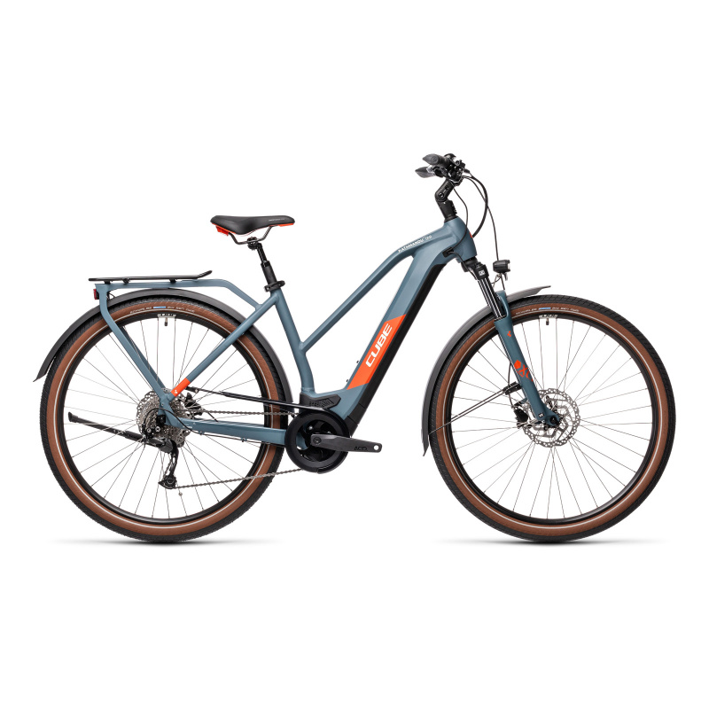 Vélo Electrique Cube Kathmandu Hybrid One 500 Trapèze Bleu/Rouge 2021 (431181)