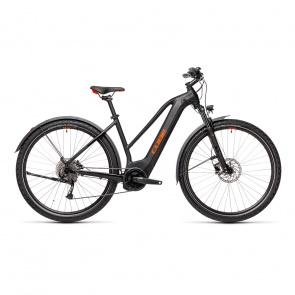 Vélo Electrique Cube Nature Hybrid One 625 Allroad Trapèze Noir/Rouge 2021 (430102)