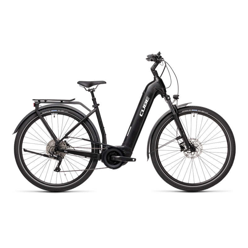 Vélo Electrique Cube Touring Hybrid Pro 625 Easy Entry Noir/Blanc 2021 (431102)
