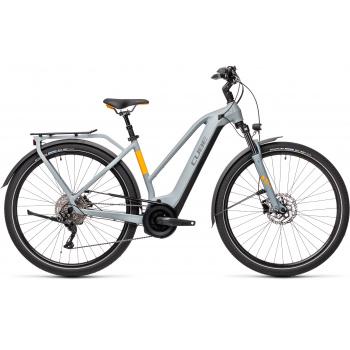 Vélo Electrique Cube Touring Hybrid Pro 625 Trapèze Gris/Orange 2021 (431112)