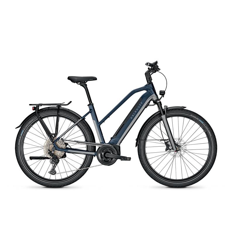 Vélo Electrique Kalkhoff Endeavour 5.B Advance+ 625 Trapèze Gris/Bleu Mat 2021 (641528065-7) (641528065)