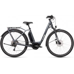Cube 2021 Vélo Electrique Cube Town Sport Hybrid One 400 Easy Entry Iridium/Gris 2021 (432350)