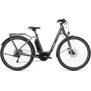 Vélo Electrique Cube Town Sport Hybrid One 400 Easy Entry Iridium/Gris 2021 (432350)