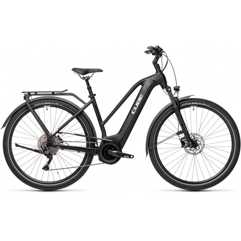 Vélo Electrique Cube Touring Hybrid Pro 625 Trapèze Noir/Blanc 2021 (431102)