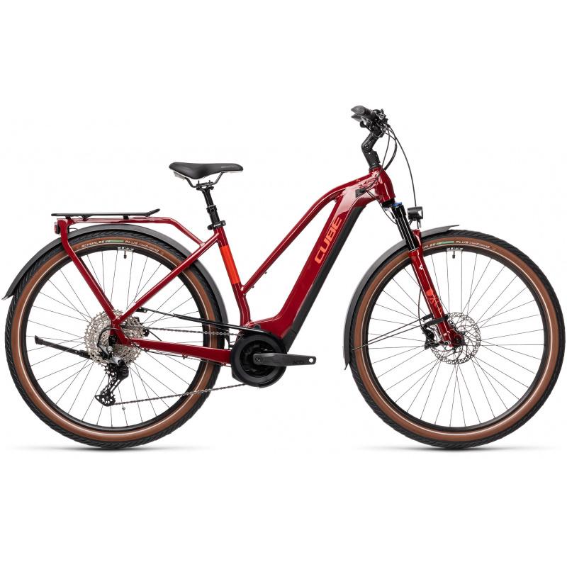 Vélo Electrique Cube Touring Hybrid EXC 625 Trapèze Rouge/Gris 2021 (431162)