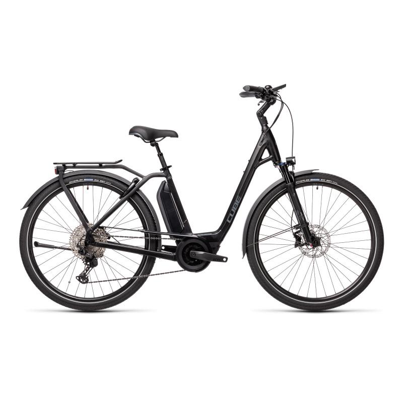 Vélo Electrique Cube Town Sport Hybrid EXC 500 Easy Entry Noir/Gris 2021 (432451)