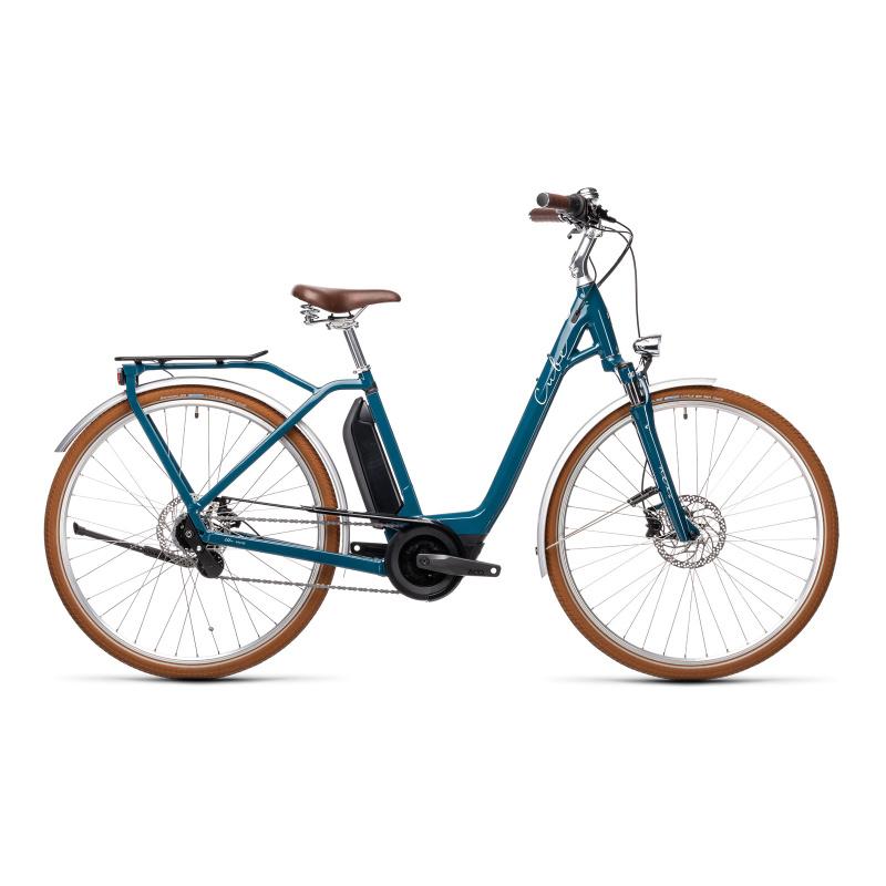 Vélo Electrique Cube Ella Cruise Hybrid 400 Easy Entry Pétrole/Gris 2021 (432610)