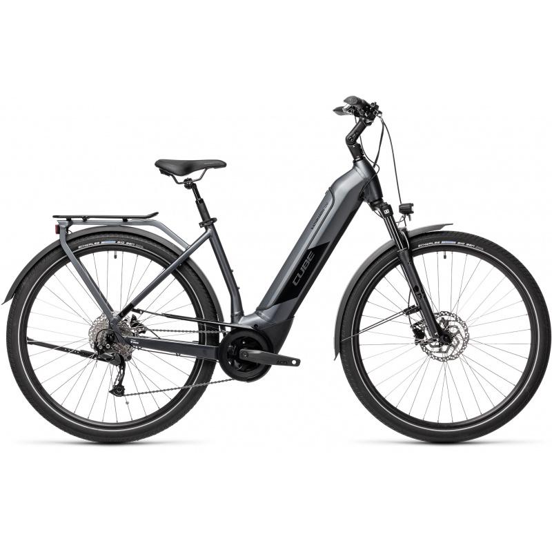 Vélo Electrique Cube Kathmandu Hybrid One 500 Easy Entry Iridium/Noir 2021 (431171)