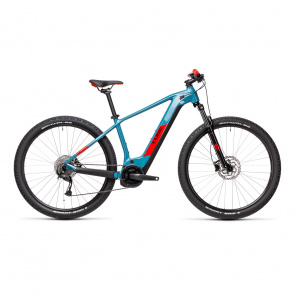 Cube 2021 Cube Reaction Hybrid Performance 500 Elektrische 29'' MTB  Blauw/Rood 2021