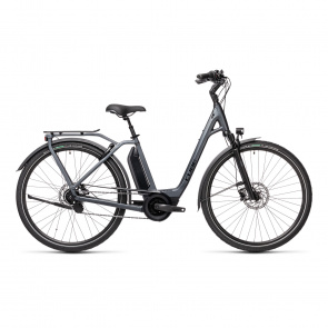 Cube 2021 Vélo Electrique Cube Town Hybrid EXC 500 Easy Entry Iridium/Noir 2021 (432201)