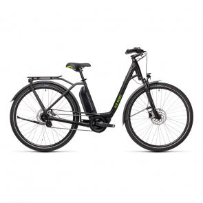 Cube 2021 Vélo Electrique Cube Town Hybrid One 500 Easy Entry Noir/Vert 2021