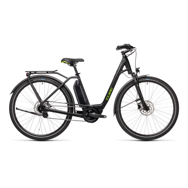 Vélo Electrique Cube Town Hybrid One 500 Easy Entry Noir/Vert 2021 (432051)