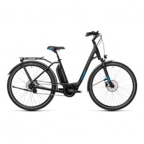 Cube 2021 Vélo Electrique Cube Town Hybrid Pro 500 Easy Entry Noir/Bleu 2021 (432101)