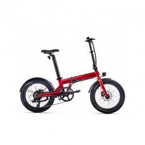 EOVOLT Vélo Electrique Pliable Eovolt Confort Rouge Bordeaux (EVO5-4)