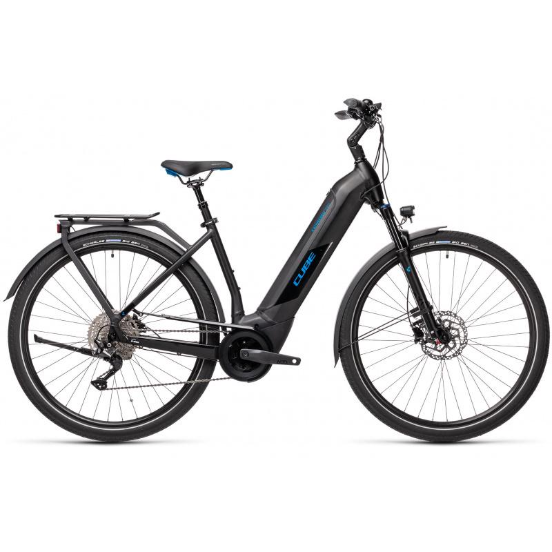 Vélo Electrique Cube Kathmandu Hybrid Pro 500 Easy Entry Noir/Bleu 2021 (431201)